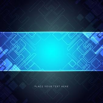 Fondo azul de circuito