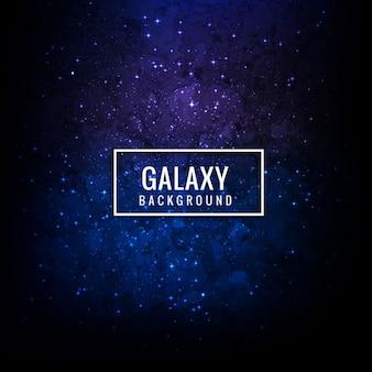 Fondo azul de galaxia