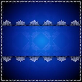 Fondo azul de lujo de mandala