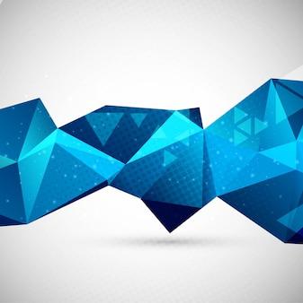 Fondo azul de polígono