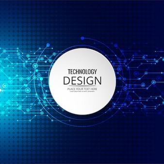 Fondo azul de tecnología con efecto halftone