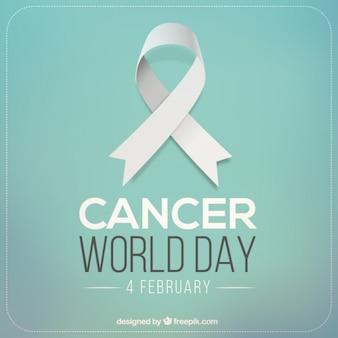 Fondo azul del día mundial contra el cancer