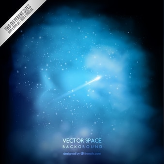 Fondo azul del espacio