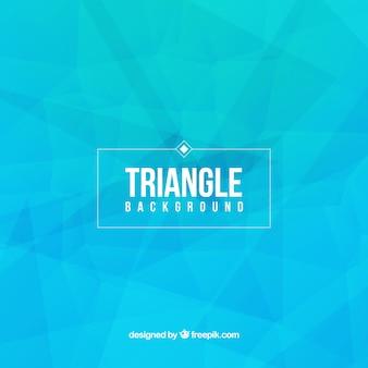 Fondo azul del triángulo