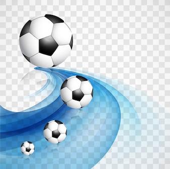 Fondo azul ondulado de fútbol