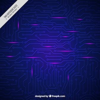 Fondo azul oscuro con circuitos