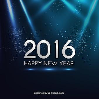 Fondo azul oscuro de año nuevo 2016