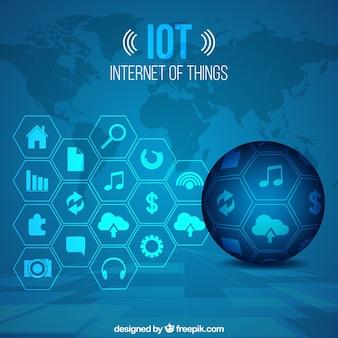Fondo azul tecnológico de internet