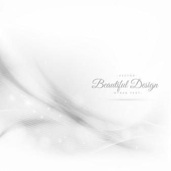 Fondo blanco abstracto de ondas con líneas