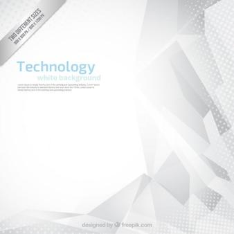 Fondo blanco abstracto de tecnología