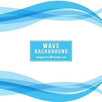 Fondo blanco con formas onduladas azules