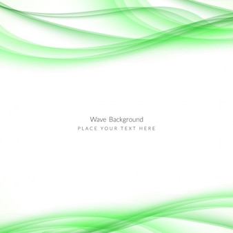 Fondo blanco con líneas onduladas verdes