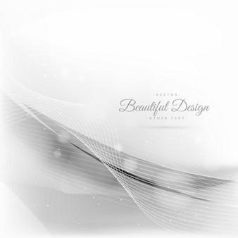 Fondo blanco con ondas abstractas