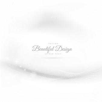 Fondo blanco elegante con onda