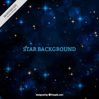 Fondo bokeh con brillantes estrellas