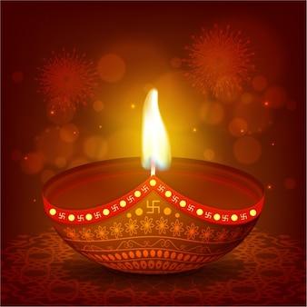 Fondo bokeh con vela encendida