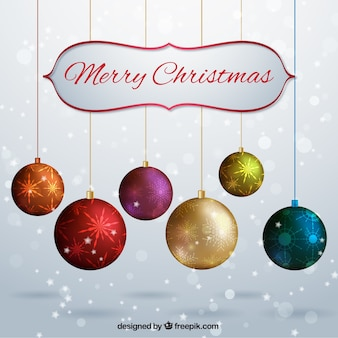 Fondo bokeh de bolas de navidad