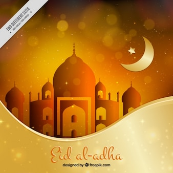 Fondo bokeh de eid al adha