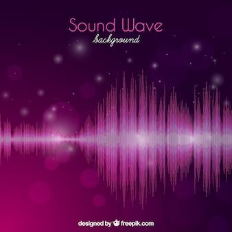 Fondo bokeh de onda de sonido