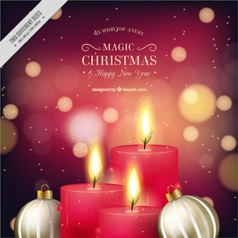 Velas de navidad fotos y vectores gratis - Bolas de navidad doradas ...