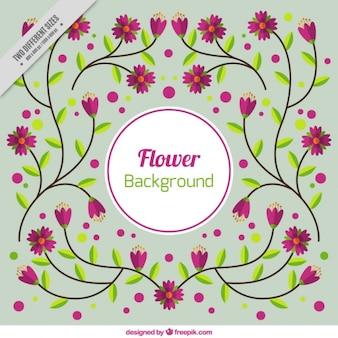 Fondo bonito con flores moradas