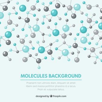 Fondo bonito de moléculas