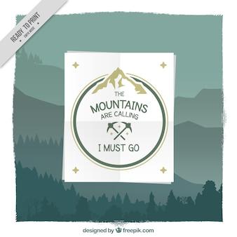 Fondo bonito de montañas con frase inspiradora
