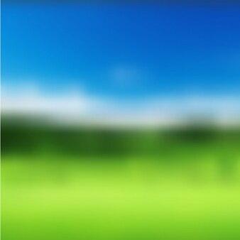 Fondo borroso de paisaje de verano