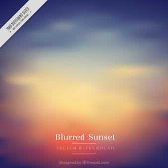 Fondo borroso de una puesta de sol para el verano