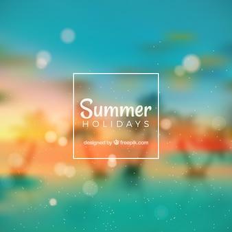 Fondo borroso de verano