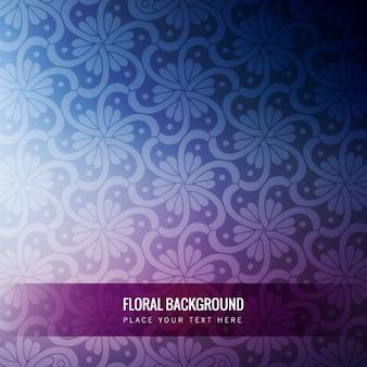Fondo borroso púrpura con un patrón floral