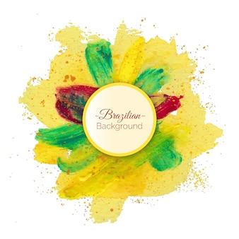 Fondo brasileño colorido con salpicaduras de pintura