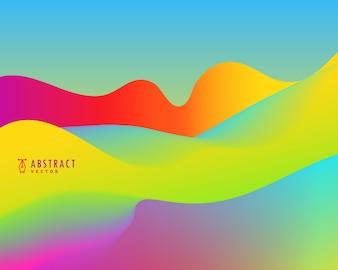 Fondo brillante abstracto ondulado colorido
