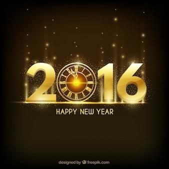 Fondo brillante de año nuevo en color dorado