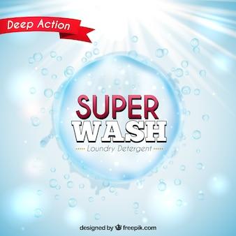Fondo brillante de burbuja de detergente