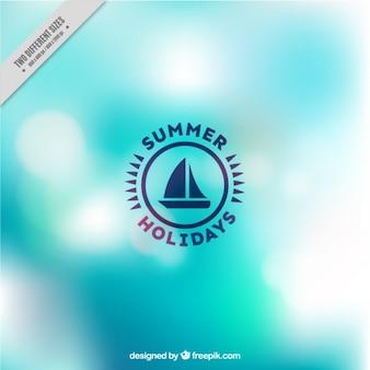 Fondo brillante de verano abstracto azul