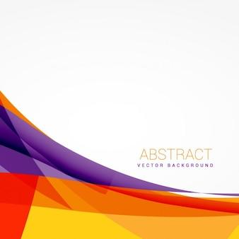 Fondo colorido abstracto con formas vectoriales