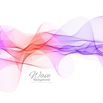 Fondo colorido con las olas