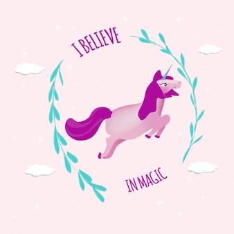 Fondo colorido con un unicornio