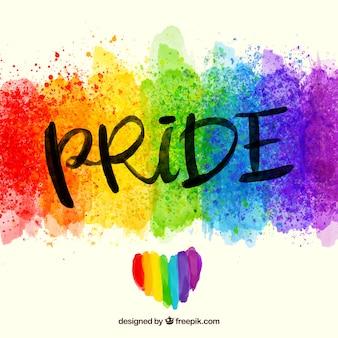 Fondo colorido de acuarela del día del orgullo