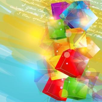 Fondo colorido de cubos