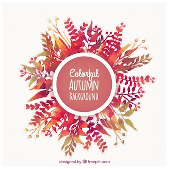 Fondo colorido de otoño
