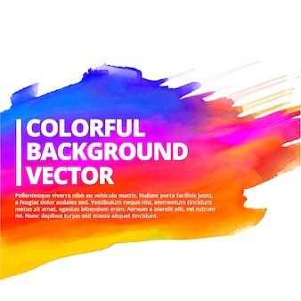 Fondo colorido de pinceladas de tinta