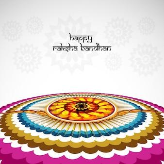 Fondo colorido de raksha bandhan