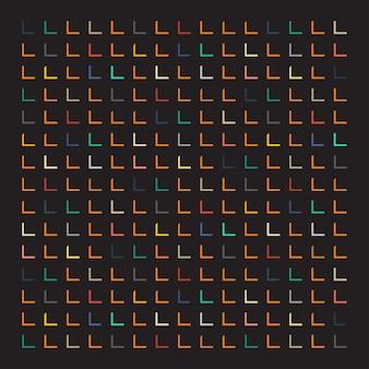 Fondo colorido de rectángulos cortados sobre fondo negro