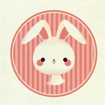 Fondo colorido de un conejo