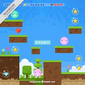 Fondo colorido de videojuego