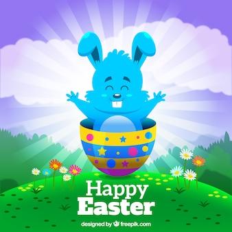 Fondo colorido del conejo de Pascua