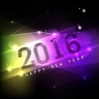 Fondo colorido feliz año nuevo 2016