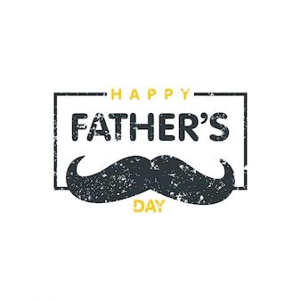 Fondo con bigote vintage del día del padre